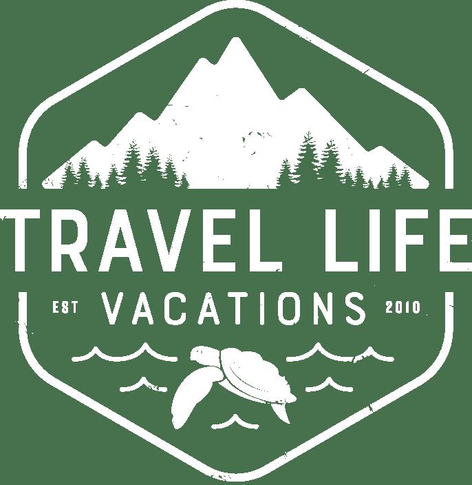 Travel Life Vacation logo Solid Navy